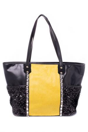 Сумка Guanwang. Цвет: черный, желтый