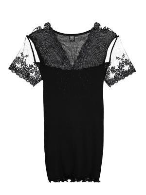 Блузка Bona Dea. Цвет: черный