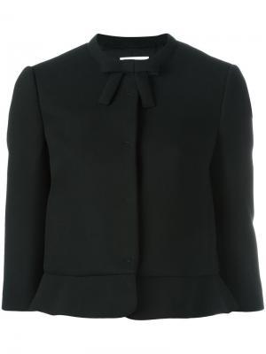 Укороченный пиджак с рукавами три четверти Red Valentino. Цвет: чёрный
