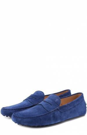 Замшевые мокасины Gommini Nuovo Tod's. Цвет: синий