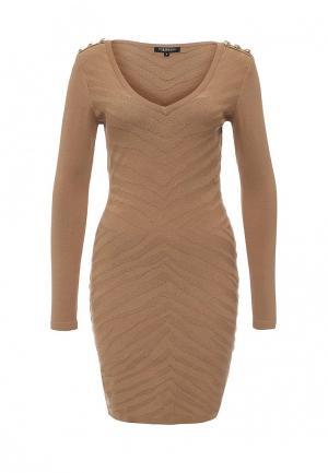 Платье Morgan. Цвет: коричневый