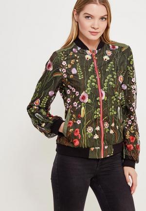 Куртка Vivostyle. Цвет: зеленый