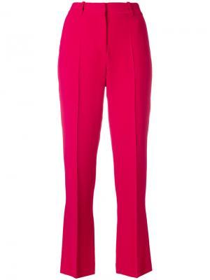 Укороченные классические брюки Givenchy. Цвет: розовый и фиолетовый