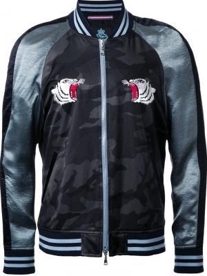 Куртка-бомбер с вышивкой Guild Prime. Цвет: зелёный