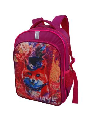 Портфель ученический Stelz. Цвет: малиновый, оранжевый, фуксия