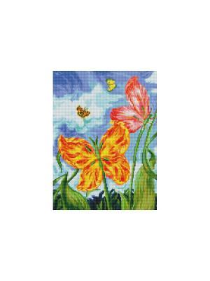 Мозаика на подрамнике. Бабочки (180-ST-S) Белоснежка. Цвет: белый