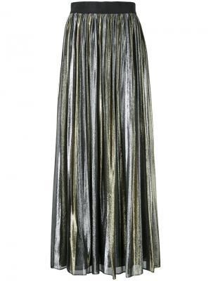 Плиссированная юбка Tabetha Alice+Olivia. Цвет: металлический