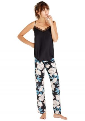 Пижама с брюками Womensecret Women'secret. Цвет: серый (темно-серый)
