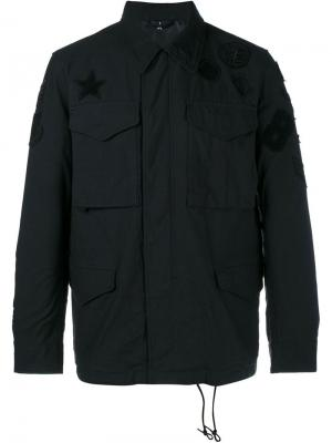 Куртка с нашивками Uniform Experiment. Цвет: чёрный