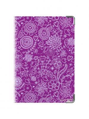 Обложка на паспорт Фиолетовый Узор Tina Bolotina. Цвет: темно-фиолетовый