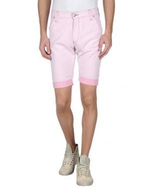 Джинсовые бермуды HEAVY PROJECT. Цвет: светло-розовый
