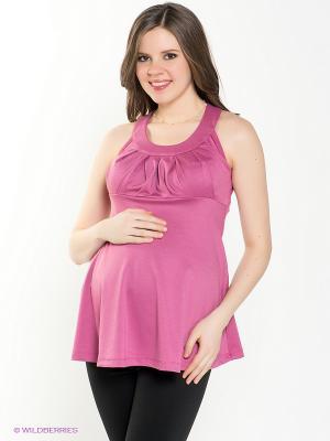Топ для беременных 40 недель. Цвет: розовый