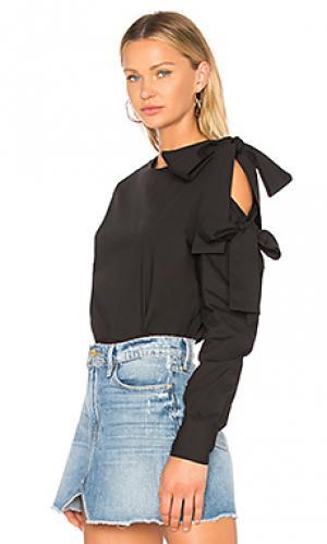 Блуза с бантом beacon street Central Park West. Цвет: черный