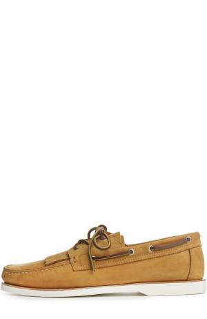 Лоферы Canali. Цвет: желтый