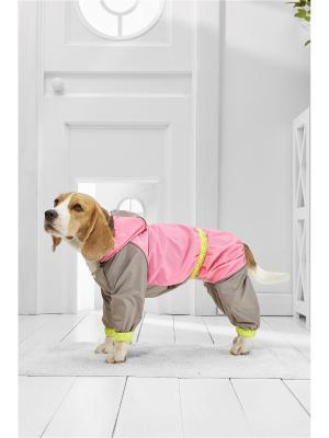 Дождевик для больших пород собак весом 18-25 кг и длиной по спинке около 55 см Nothing but Love. Цвет: розовый, салатовый, серый