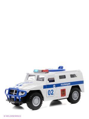 Машина  Полицейский джип Технопарк. Цвет: белый, синий