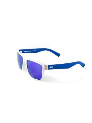 Солнцезащитные очки NRC. Цвет: синий, белый