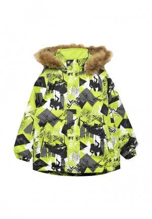 Куртка утепленная Huppa. Цвет: зеленый