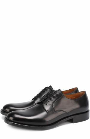 Классические кожаные дерби O`Keeffe. Цвет: черный