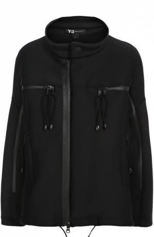 Куртка асимметричного кроя с воротником-стойкой Y-3. Цвет: черный