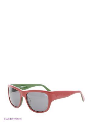 Очки солнцезащитные LM 534S 03 La Martina. Цвет: красный, зеленый