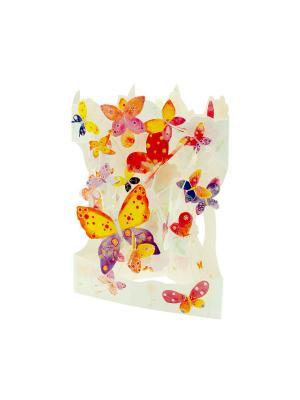 Объемная открытка  Бабочки Даринчи. Цвет: красный