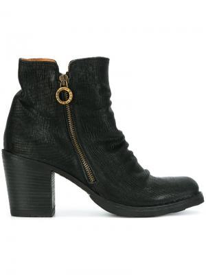 Ботинки на молнии с жатым эффектом Fiorentini +  Baker. Цвет: чёрный