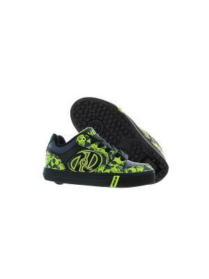 Роликовые кроссовки Motion Plus Heelys. Цвет: черный, салатовый, серый
