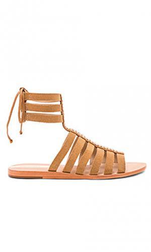 Кожаные сандалии в стиле гладиатор copacabana Kaanas. Цвет: цвет загара