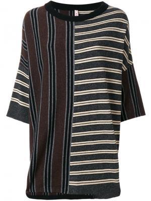 Трикотажный свитер в полоску Antonio Marras. Цвет: многоцветный
