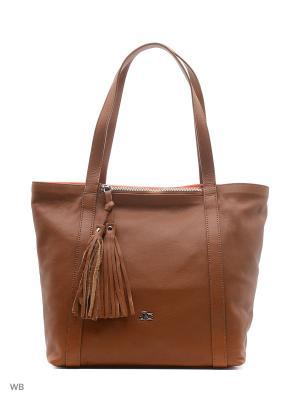 Сумка Jacky&Celine. Цвет: коричневый, оранжевый