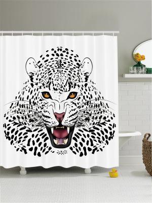 Штора для ванной Magic Lady. Цвет: черный, белый
