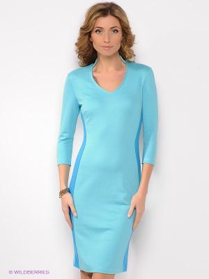 Платье Анна Чапман. Цвет: голубой, синий