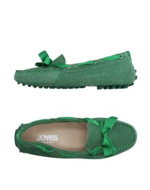 Мокасины JOYKS. Цвет: зеленый