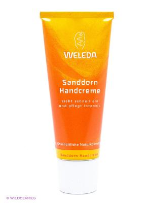 Крем для рук с облепихой, 50 мл Weleda. Цвет: оранжевый, белый