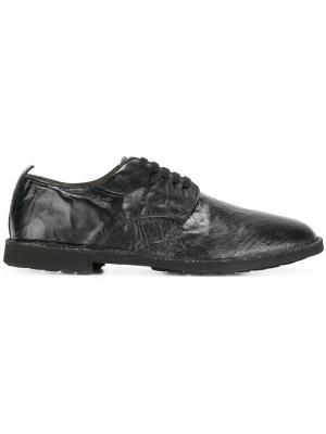 Ботинки-дерби с мятым эффектом Rocco P.. Цвет: чёрный