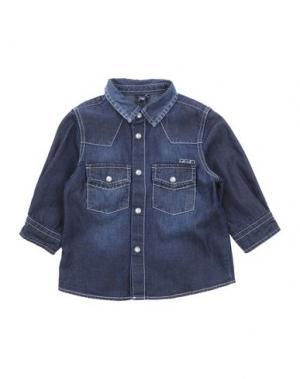 Джинсовая рубашка U+É. Цвет: синий