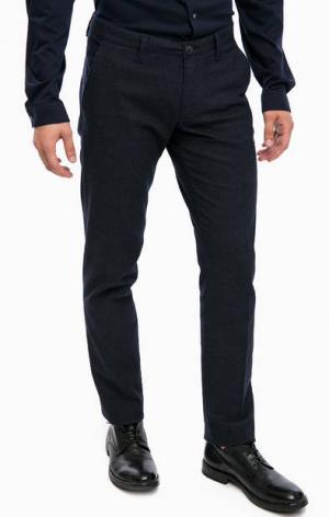 Синие классические брюки из хлопка DRYKORN. Цвет: синий