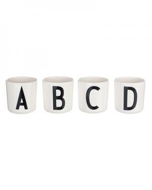 Чашка Design Letters. Цвет: белый