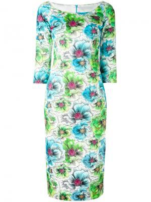 Платье миди с цветочным узором Ultràchic. Цвет: многоцветный