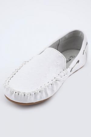 Туфли школьные MURSU. Цвет: белый