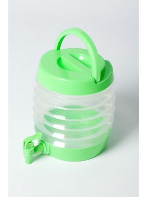 Емкость для напитков с дозатором складная БОЧОНОК BRADEX. Цвет: светло-зеленый