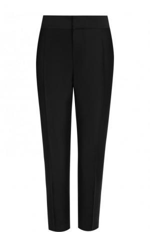 Укороченные брюки-скинни из смеси шерсти и шелка Dsquared2. Цвет: черный