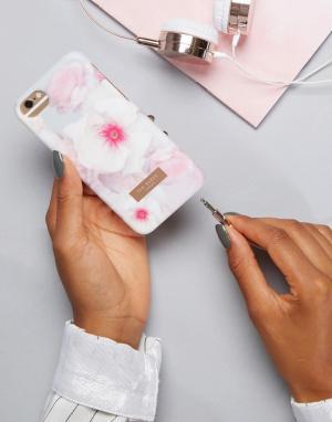 Ted Baker Чехол для IPhone с цветочным принтом. Цвет: серый