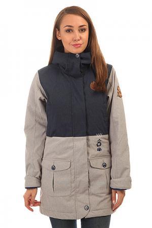 Куртка женская  Symbol Grey Melange Dark Blue Picture Organic. Цвет: синий,серый