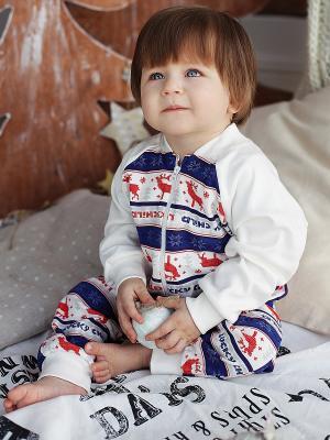 Кофта Lucky Child. Цвет: белый, синий, красный