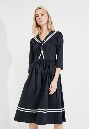 Платье Terekhov Girl. Цвет: синий