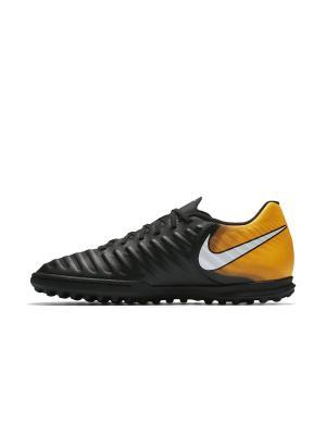 Бутсы TIEMPOX RIO IV TF Nike. Цвет: черный, белый, оранжевый