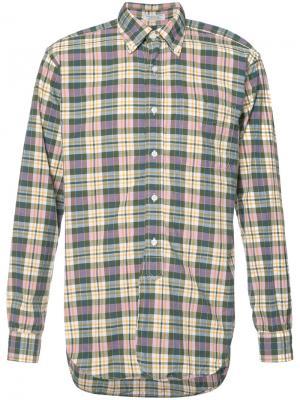 Рубашка в клетку Engineered Garments. Цвет: розовый и фиолетовый