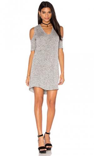 Мини платье cory Riller & Fount. Цвет: серый